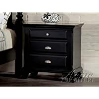 Acme 10433 Canterbury Nightstand, Black