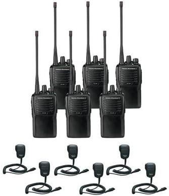 6 Pack of Motorola VX-261 UHF Two Way Radios PREPROGRAMMED with 6 Speaker Mics MH-450