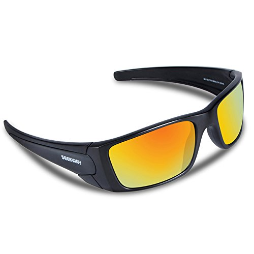 SEEKWAY Polarized Outdoor Sports Sunglasses For Cycling Driving Fishing Golf Baseball SWC082 (black, rainbow polarized coating - Sunglasses Prescription Cheap Sport