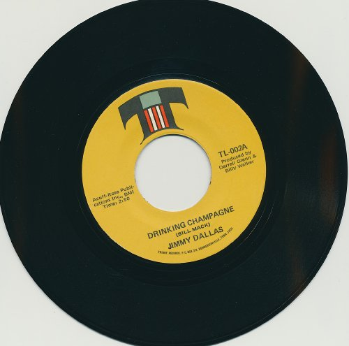 Records Way Rpm 45 (Jimmy Dallas : Drinking Champagne / One Way Ticket to the Blues (VINYL 45 rpm RECORD))