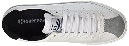 Superga 2843 Etumbleleasueu, Baskets Femme Weiß (White/Black)