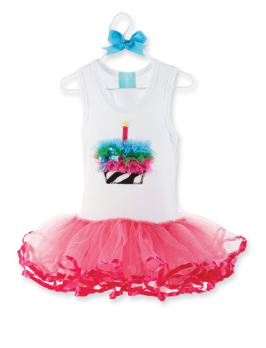 Zebra Cupcake Tutu Birthday Dress for Girls