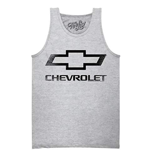 Tee Luv Chevrolet Tank Shirt - Chevy Bowtie Logo Graphic Tank Top (X-Large) Athletic Heather