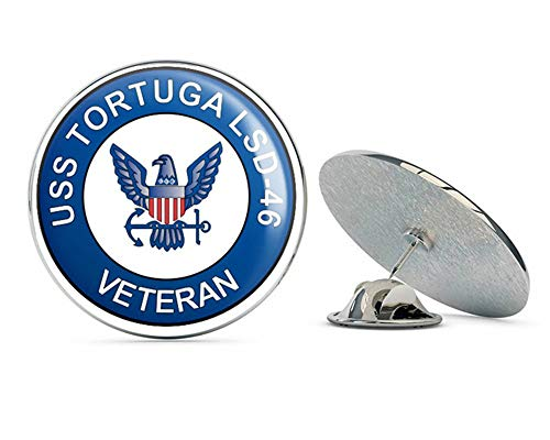 (US Navy USS Tortuga LSD-46 Veteran Military Veteran USA Pride Served Gift Metal 0.75