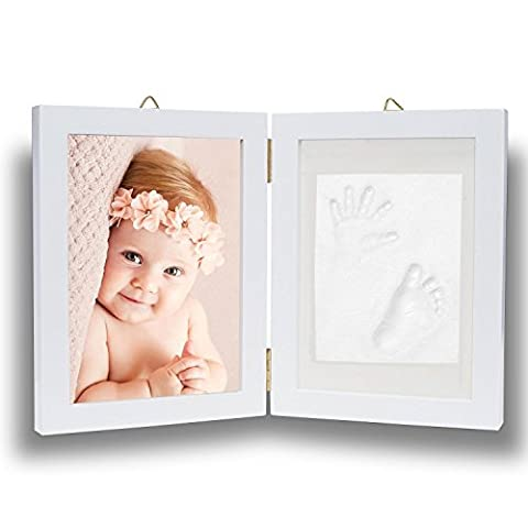 Baby Hand and Footprint Picture Frame Kit - Memorable Keepsakes Gift for New Born, Baby Shower or Christening Gift, Toddlers Birthday (The Dazzle Picture Frames)