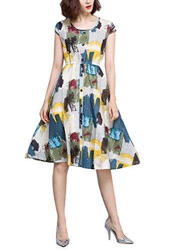MatchLife - Vestido - para mujer flores