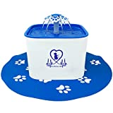Cheap Pet Fit For Life Water Fountain Dispenser Plus Bonus Cat Wand and Mat – 2 Liter Super Quiet Automatic Water Bowl with Charcoal Filter for Dogs, Cats, Birds and Small Animals