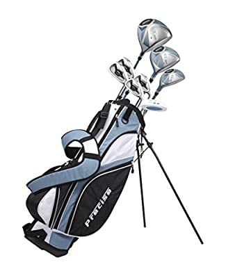"Ladies Petite Complete Golf Club Set (Ladies, Right Hand, Light Blue, -1-inch) Custom Made for Women 5'0""-5'5"""