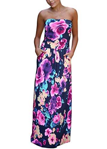 asos strapless floral dress - 3