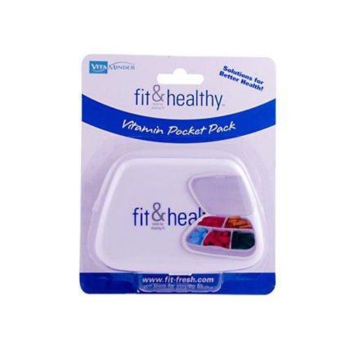 Fit & Fresh Vitaminder Pocket, Divided Pill Case