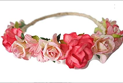 Amazon N2 Pink Red Paper Flower Crown Made Of Mulberry