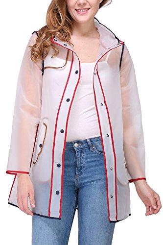 Zelia Manteau 9901f Transparent Blanc Imperméable Femme prrYSw5qdP