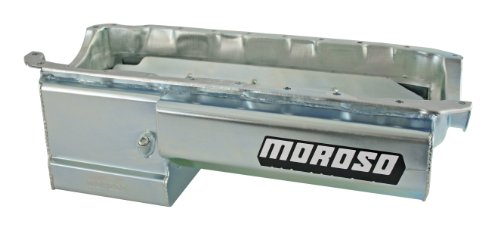 Moroso 21048 Deep Front Sump Eliminator Style Oil Pan for with Partitioned Tray for Chevy Big-Block Engines - Tray Louvered Moroso Windage