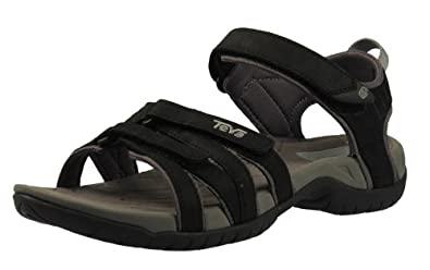 Teva Tirra Leather 9097 Damen Sandalen Leder, Schwarz, Größe