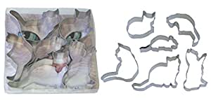 "R & M International Best Seller Set of 6 Assorted Cookie Cutters - ""When the Cat's Away"" Great for Cookies and Crafts"