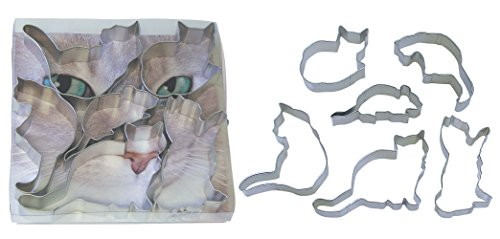 22 When the Cat's Away Cookie Cutters, Assorted, 6-Piece Set (Shaped Cookie Cutter)