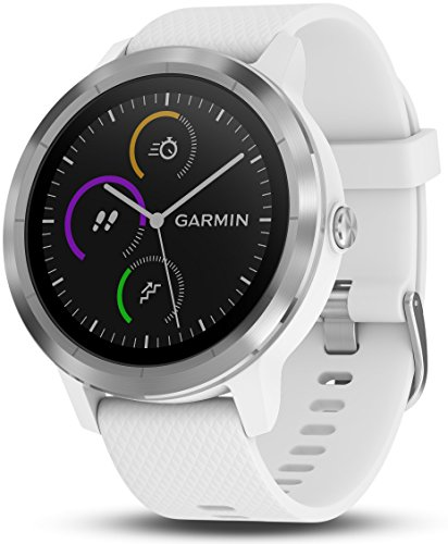 Garmin vvoactive 3, GPS Smartwatch with Contactless Payments and Built-in Sports Apps, White/Silver