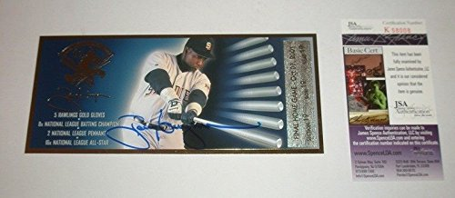 Tony Gwynn Autographed Signed Final Game Commemorative Ticket - JSA Authentication San Diego Padres Hof