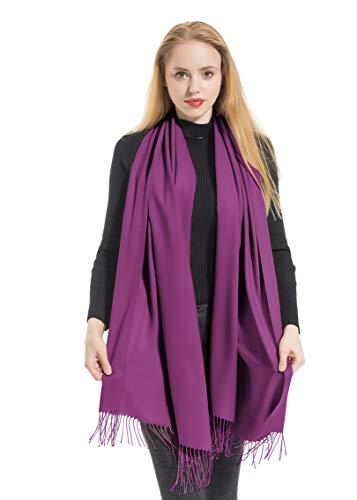(Elzama Solid Color Shawl Scarf | Large & Cashmere Soft Pashmina For Women | Winter Blanket Wrap)