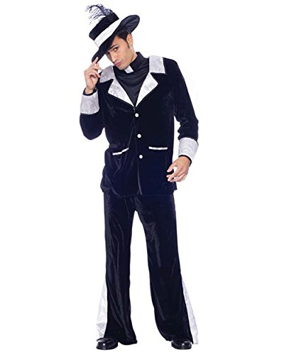 [Mens Theatre Costumes Catholic Father Pimp Priest Costume Sizes: Large] (College Humor Costumes)