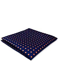 Shlax&Wing Large Pocket Square Blue Dots Dotty Mens Hankies Hanky Fashion