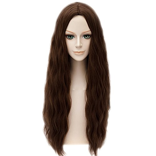 MSHUI The Avengers Scarlet Witch Wanda Maximoff Cosplay Wig Brown Wavy -