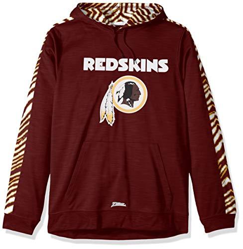 (Zubaz NFL Washington Redskins Mens Pullover Hood, Burgandy Large)