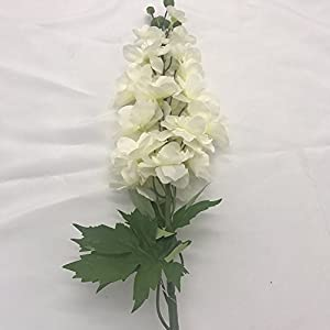 EasinFlo Artificial Delphinium Flowers Branch Simulation Silk Flowers Wedding Home Decoration 12