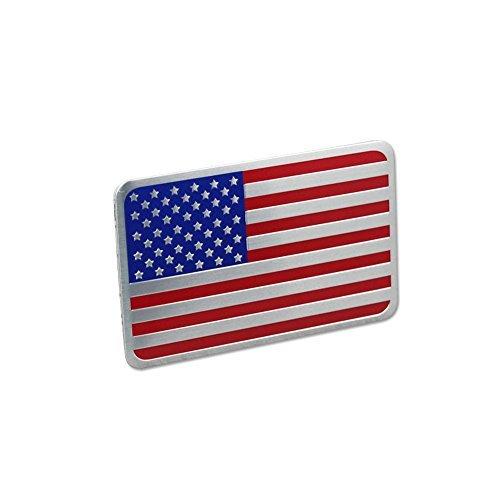 (Generic Car Racing Sports US USA American Flag Oblong Emblem Badge Decal Sticker)