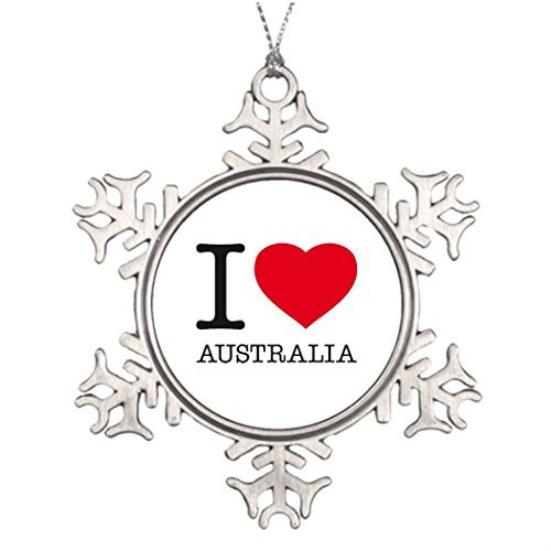 Personalised Christmas Tree Decoration Australian Wedding Snowflake Funny Ornaments Melbourne (Melbourne Personalised Ornaments Christmas)
