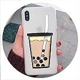 Cartoon 3D Milk Tea Funny Case for Samsung Galaxy A10 A20 A30 A40S A50 A60 A70 A80 M10 M20 M30 Silicon Drink Cup TPU Phone Cover,A2 Core,PearlCup Matte Clear -  disiren