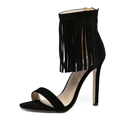 zapatos su tacón ranurado El muelle sandalias nuevo romano de de de estilo mujer apricot con pBBU4Pxw