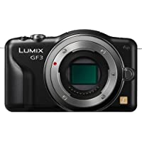 Panasonic Lumix DMC-GF3 12 MP Micro 4/3 Mirrorless Digital Camera with 3-Inch Touch-Screen LCD Body Only (Black)