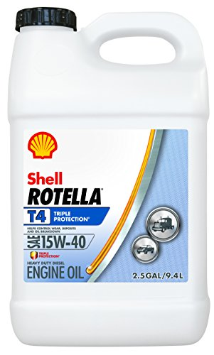 Price comparison product image Rotella T4 Triple Protection Diesel Motor Oil 15W-40 CK-4,  2.5 Gallon - Pack of 1