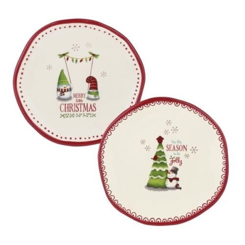 grasslands road 471164 mini decorative christmas holiday plates set of 2