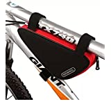 Cycling Bicycle Bike Bag Top Tube Triangle Bag Front Saddle Frame Pouch Outdoor Red