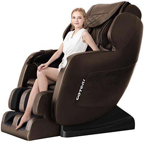 3D Robot Hand Massage Chair Deluxe S-Track Recliner with Full Body Air Massage Chair & Heating Therapy (Brown)