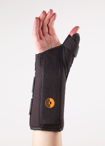Corflex Ultra Fit Wrist Splint with Abducted Thumb-S-Right - Black ()