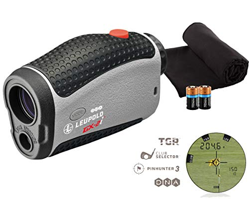affordable Leupold GX-2i3 Golf Rangefinder Bundle | Includes Golf Laser Rangefinder (Slope  Non-Slope Function) with Carrying Case, PlayBetter Microfiber Towel and Two (2) CR2 Batteries