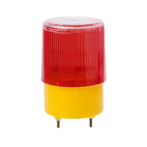 HOWWOH 0.3w Solar Powered Emergency Strobe Warning Light Wireless Flashing Traffic Lamp