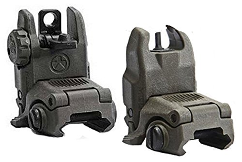 Magpul Industries MBUS Generation II Sight Set Front & Rear Color OD Green