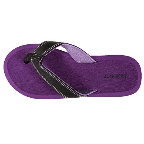 Flip-Flops Damen violett Isotoner Violet