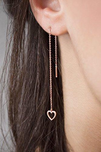9k Rose Earrings - 7