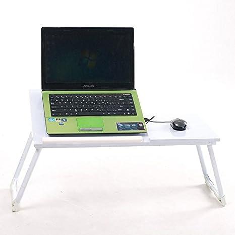 Portátil mesa Plegable de cena de té portátil cama soporte ordenador portátil escritorio bandeja: Amazon.es: Oficina y papelería