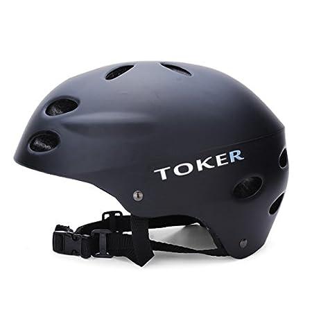 Toker esquí patinaje Skateboarding seguridad cascos bicicleta cascos - negro mate -L: Amazon.es: Hogar