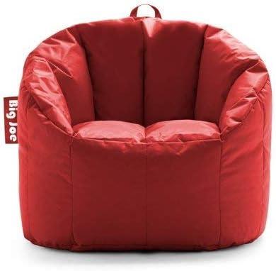 Big Joe Milano Bean Bag Chair, Multiple Colors – 32 x 28 x 25 – Fire Engine Red