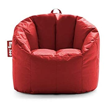 Big Joe Milano Bean Bag Chair, Multiple Colors – 32 x 28 x 25 – Fire Engine Red