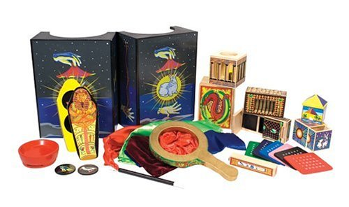(Melissa & Doug Deluxe Magic Set, Kids Magic Set, 10 Classic Tricks, Step-By-Step Instructions, 3.8