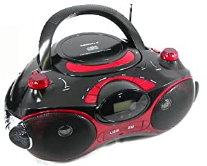 Cornet BH-426 Portable CD / MP3 / AM/FM Player / Radio / Boombox with USB Audio, SD / MMC Slot, AUX-IN Jack for MP3 / iPod Connection and Wireless Remote (DUAL VOLTAGE: 110-220V for Worldwide Use)