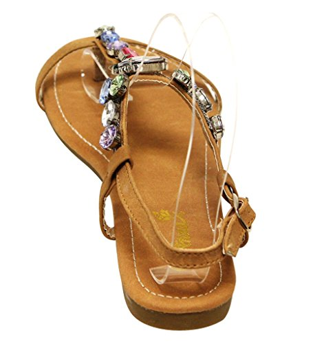 Anna Vita-12 Cinturino Alla Caviglia Con Cinturino Alla Caviglia Con Fibbia A Forma Di Diamante Colorato Decorazione T-strap